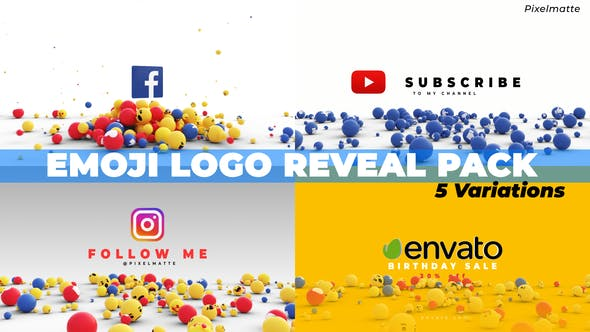 Thumbnail for Emoji Logo Reveal Pack