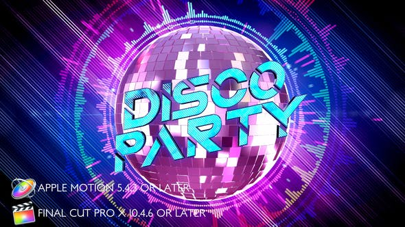 Disco Party Opener - Apple Motion