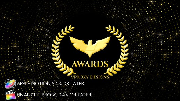Thumbnail for Awards Glitters Logo - Apple Motion