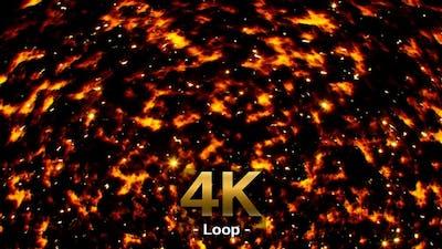 Sparkling Fire Background 4K Loop