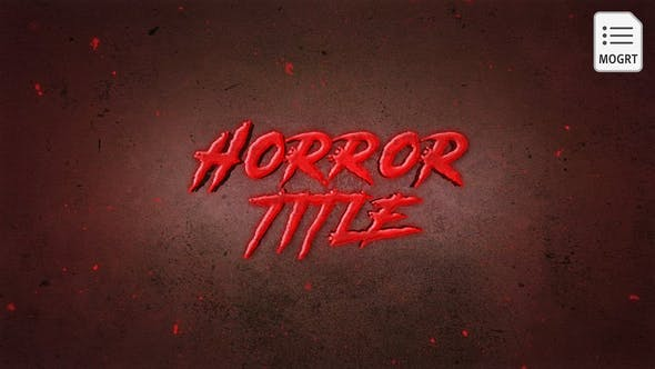 Thumbnail for Horror Title - MOGRT