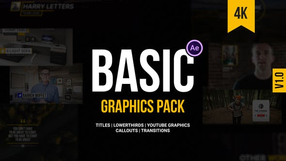 Thumbnail for Basic Graphics Pack For Video Creators