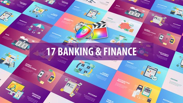 Banking and Finance Animation   Apple Motion & FCPX