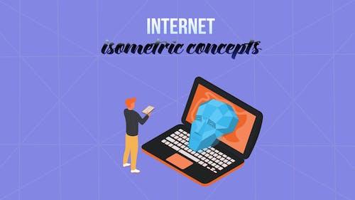 Internet - Isometric Concept