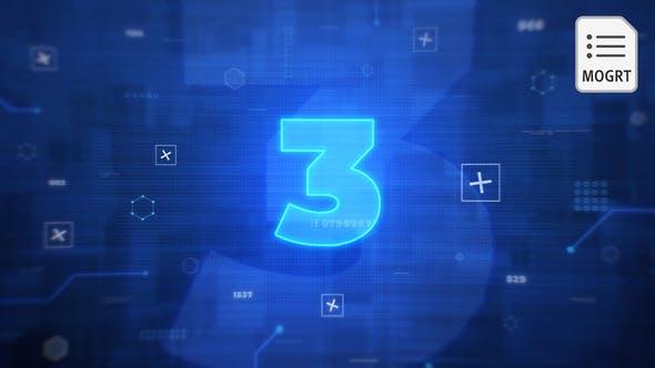 Thumbnail for Digital Countdown Title - MOGRT