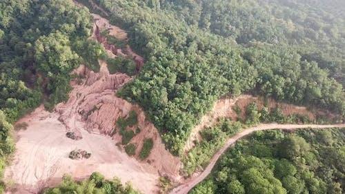 Deforestation at hill