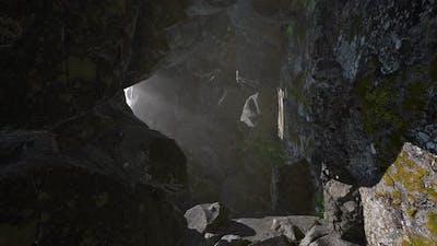 Sun Light Inside Mysterious Cave