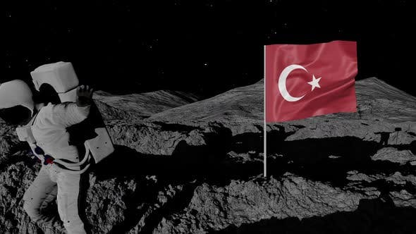 Thumbnail for Astronaut Planting Turkey Flag on the Moon