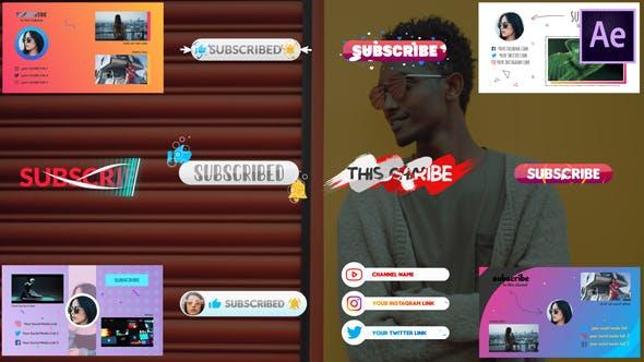 Thumbnail for Abonnés et écrans de fin | After Effects