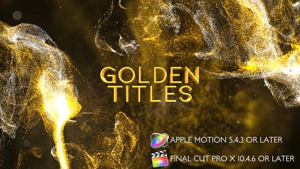Thumbnail for Titres dorés - Apple Motion