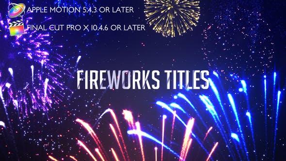 Thumbnail for Fireworks Titles - Apple Motion