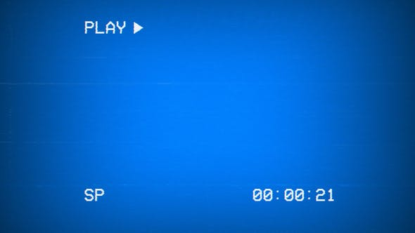 Thumbnail for VHS Playback Blue Screen with Timecode - 30 Clips