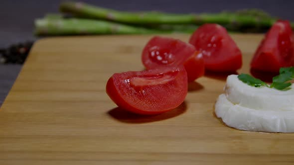 Thumbnail for Fresh Mozzarella Cheese And Sliced Tomatoes 06
