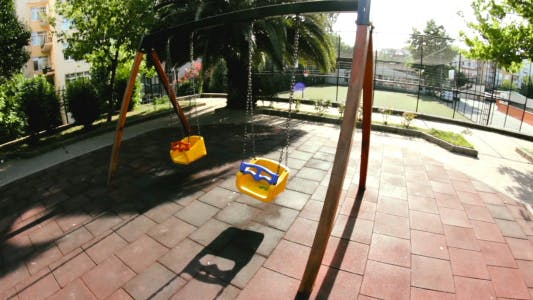 Swing In Kids Playground