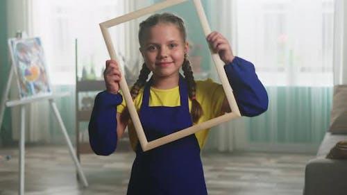 Creative Portrait of Little Girl