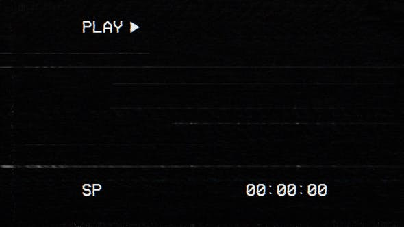 Thumbnail for VHS Playback Screen Overlay with Timecode - 30 Clips