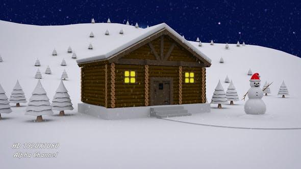 Thumbnail for Winter Log Cabin - Door Open