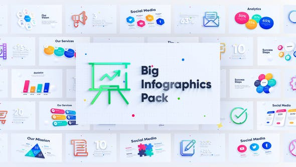 Thumbnail for Corporate Infographics Charts Pack
