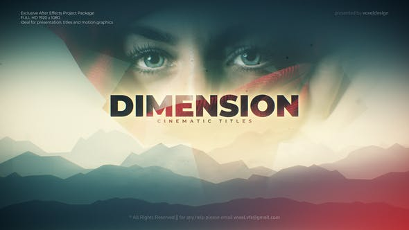 Thumbnail for Dimension Cinematic title