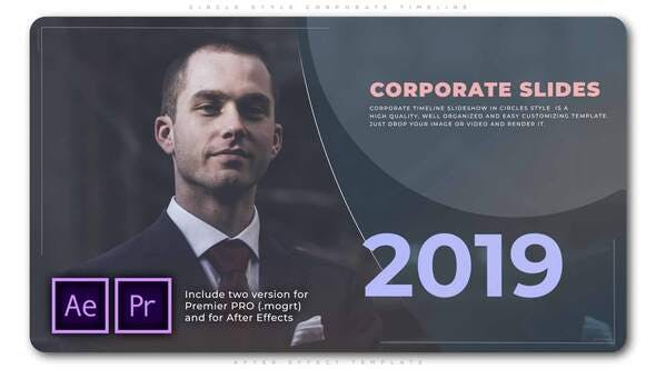 Thumbnail for Circle Style Corporate Timeline