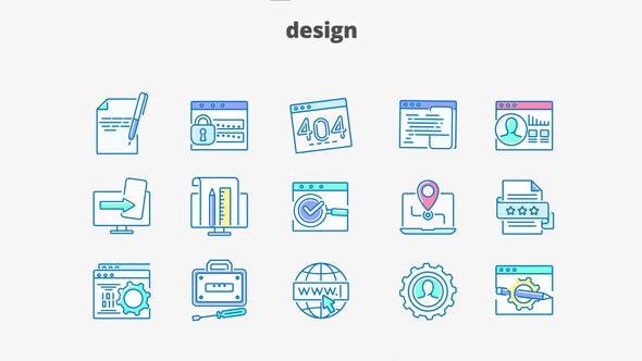 Thumbnail for Design - Filled Outline Animated Icons