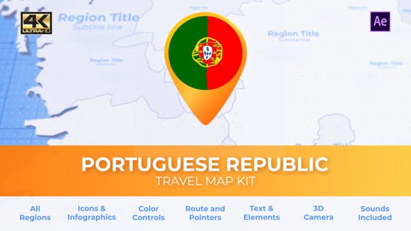 Thumbnail for Portugal Map - Portuguese Republic Travel Map