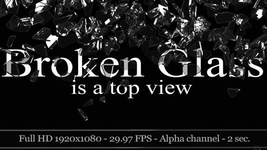 Thumbnail for 3D Broken Glass - Top View (2-Pack)