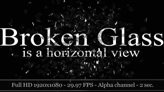 Thumbnail for 3D Broken Glass - Horizontal View (2-Pack)