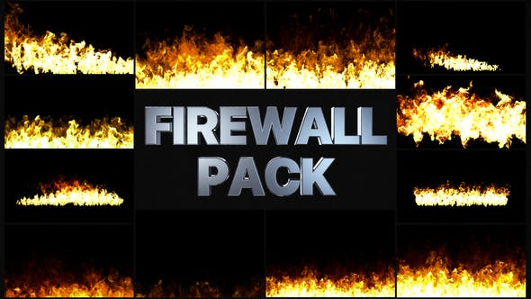 Thumbnail for Fire Walls Pack | After Effects
