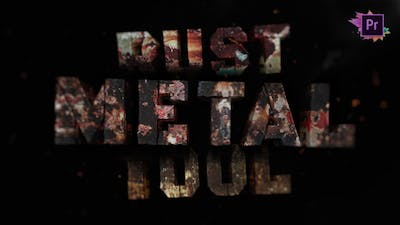 Metal Rust Toolkit   Title Maker For Premiere Pro MOGRT