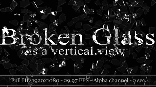 Thumbnail for 3D Broken Glass - Vertical View (2-Pack)