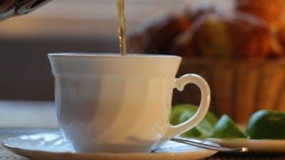 Pouring Tea For Tea Party
