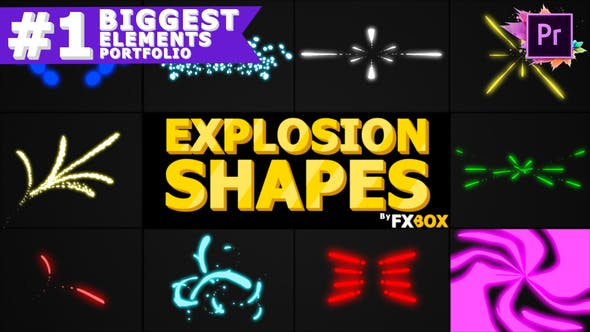 Thumbnail for Explosion Shapes | Premiere Pro MOGRT