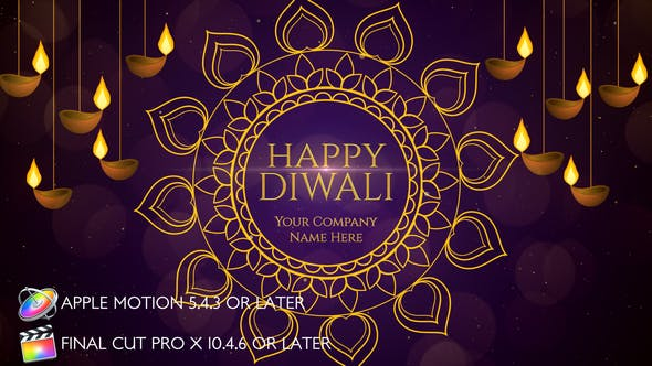 Thumbnail for Diwali Wishes - Apple Motion