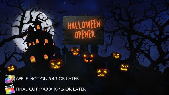 Thumbnail for Halloween Opener - Apple Motion