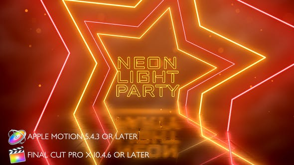 Thumbnail for Neon Light Party Opener - Apple Motion