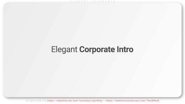 Thumbnail for Elegant Corporate Intro