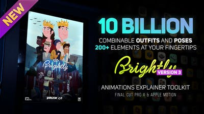 Brightly V3   Animations Explainer Toolkit - Final Cut Pro X & Apple Motion