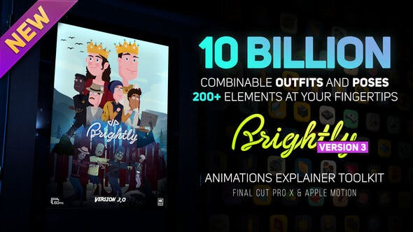 Thumbnail for Brightly V3 | Animations Explainer Toolkit - Final Cut Pro X & Apple Motion