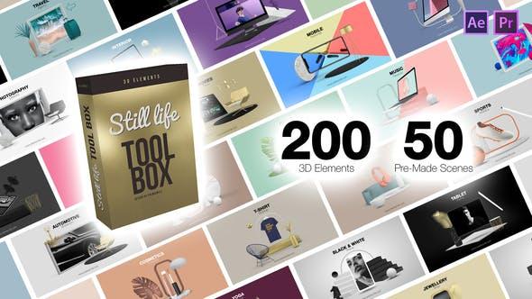 Thumbnail for Still Life Toolbox AE & Premiere Pro Mogrts