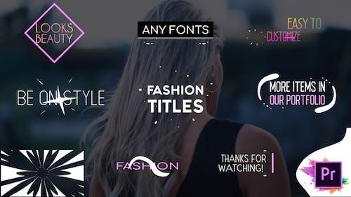 Fashion Titles Collection   Premiere Pro MOGRT