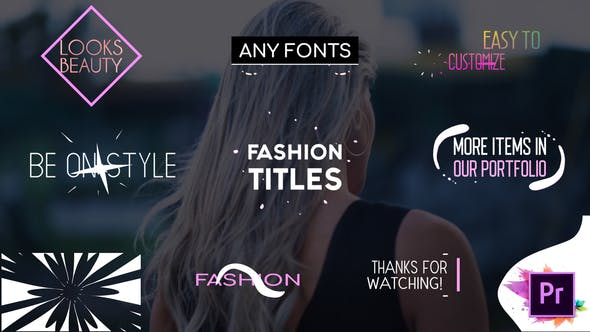 Thumbnail for Colleción Fashion Titles | Premiere Pro MOGRT