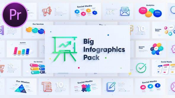 Pack de graphiques d'Infographies d'entreprise