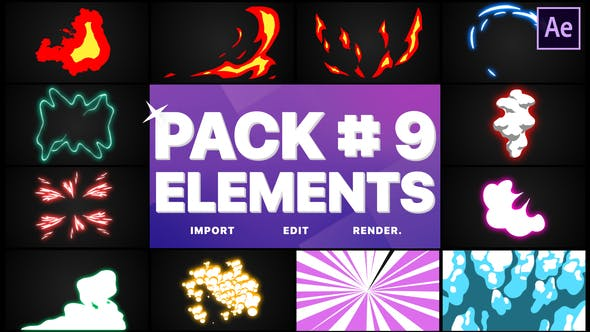 Thumbnail for Flash FX Elements Pack 09 | After Effects