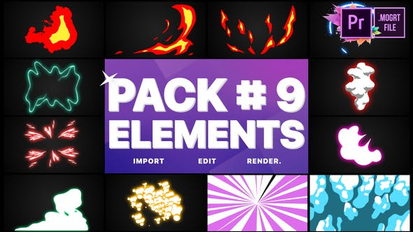 Thumbnail for Flash FX Elements Pack 09 | Premiere Pro MOGRT