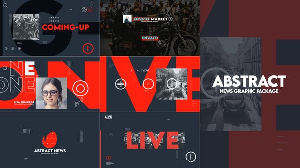Abstract News Graphic Pack
