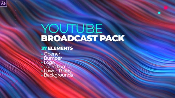 Thumbnail for YouTube Channel Broadcast Pack 37 Elements