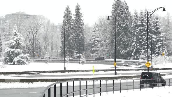 Thumbnail for Winter Highway Interchange at Snowfall
