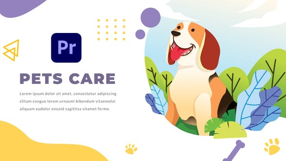 Thumbnail for Pets Care and Veterinarian | Premiere Pro MOGRT