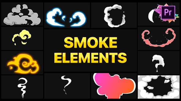 Thumbnail for Smoke Elements | Premiere Pro MOGRT